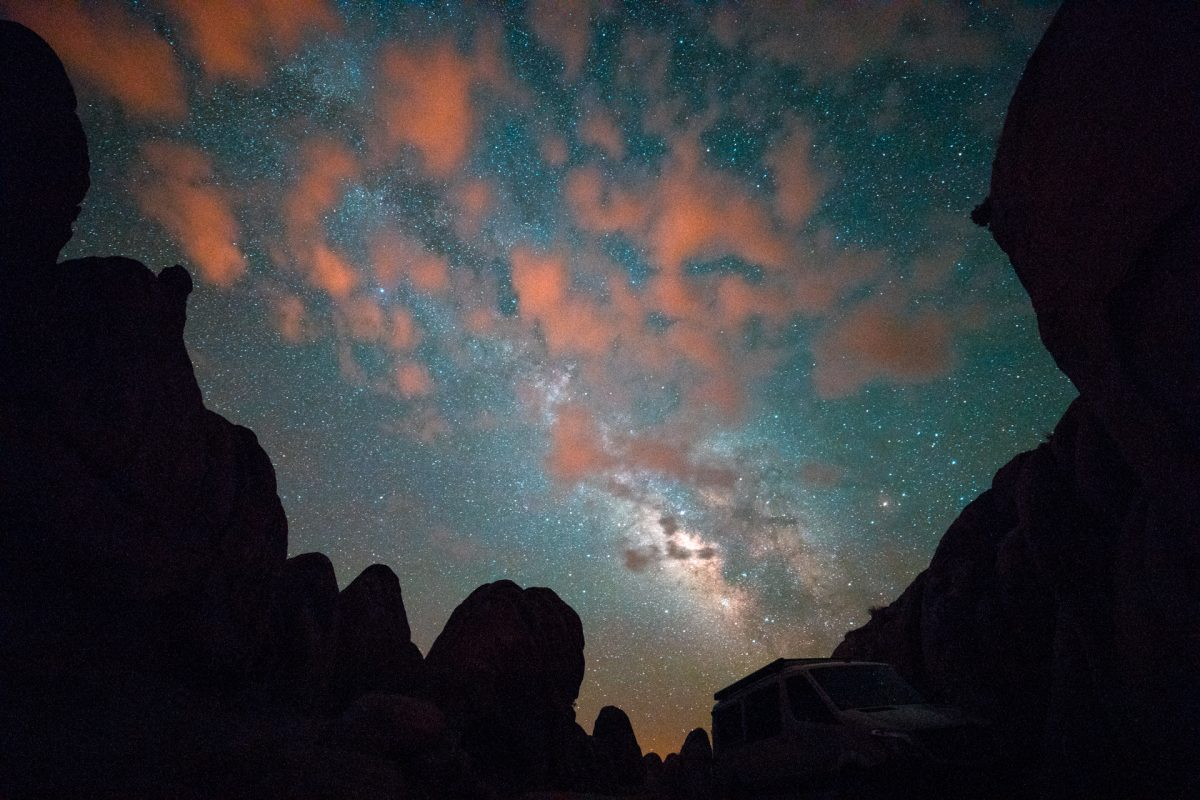 Milky Way, Stars, Alabama hills, Longnecker