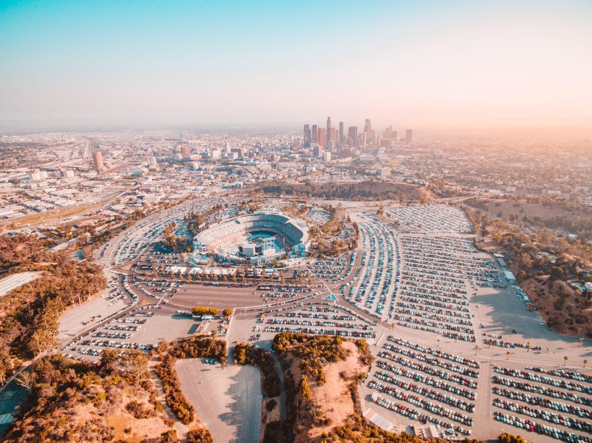 Dodgers, Stadium, LA, California