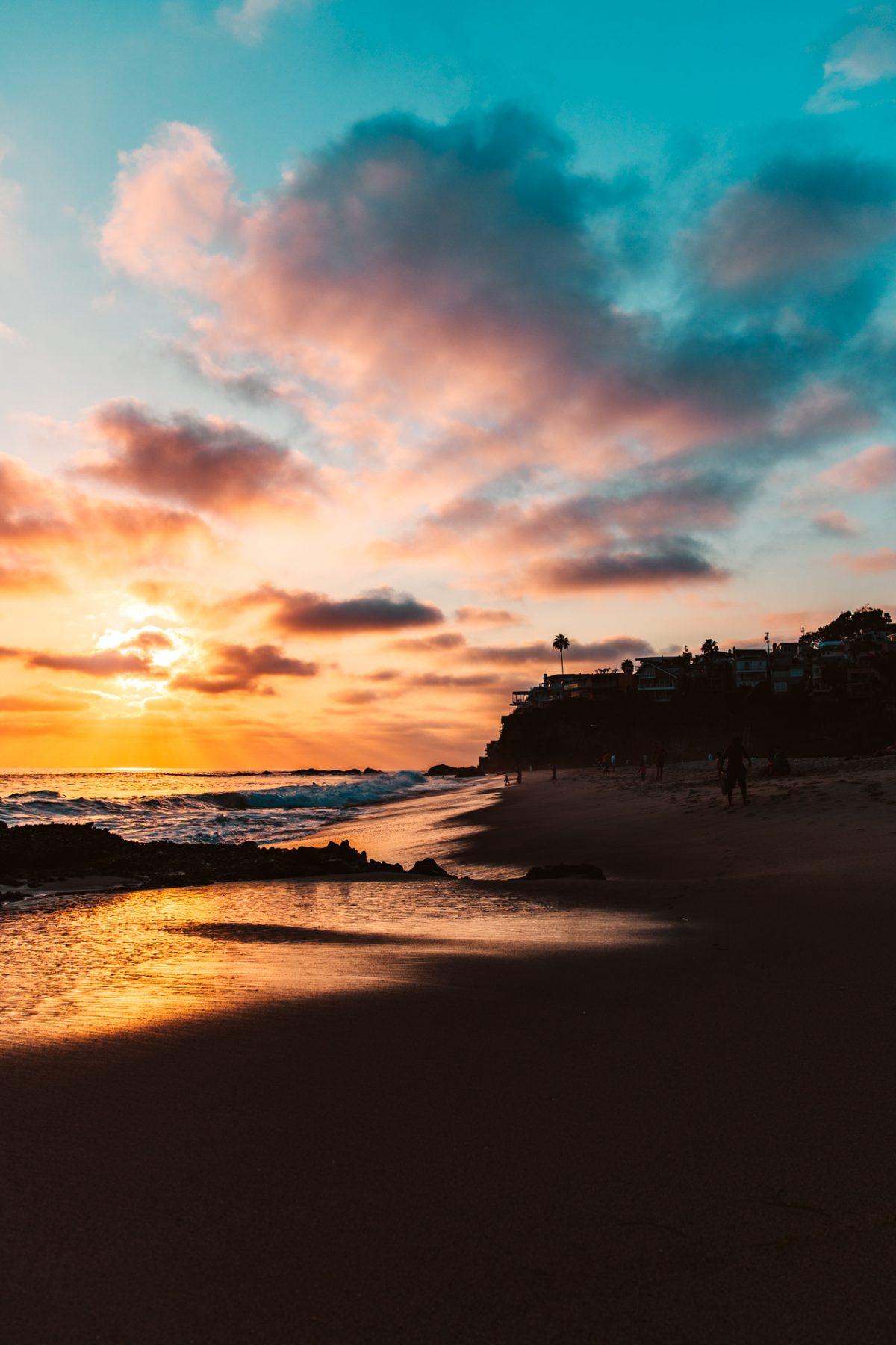 Laguna, Sunset, Beach, Longnecker