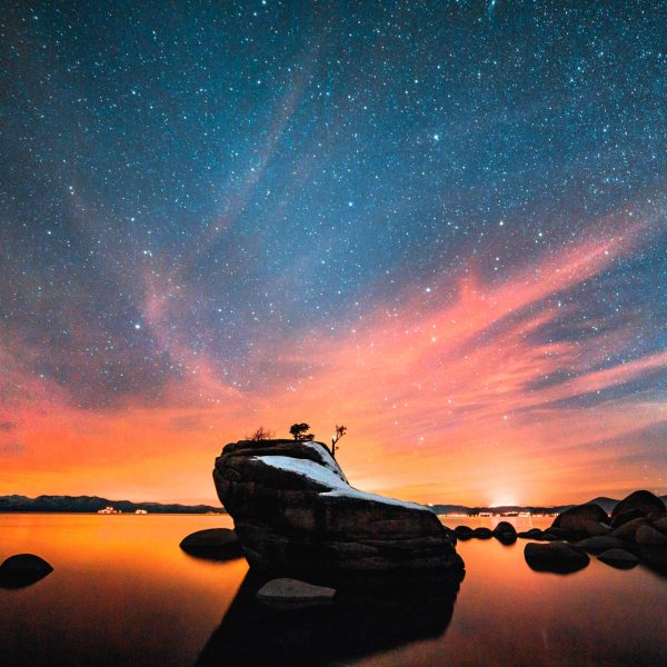 Bonsai Rock, Tahoe, Stars