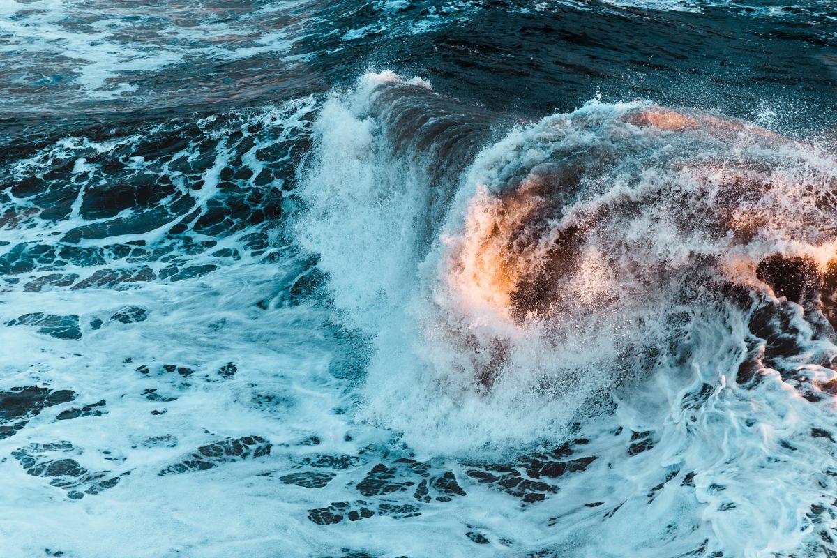 Wave, light, beach, ocean