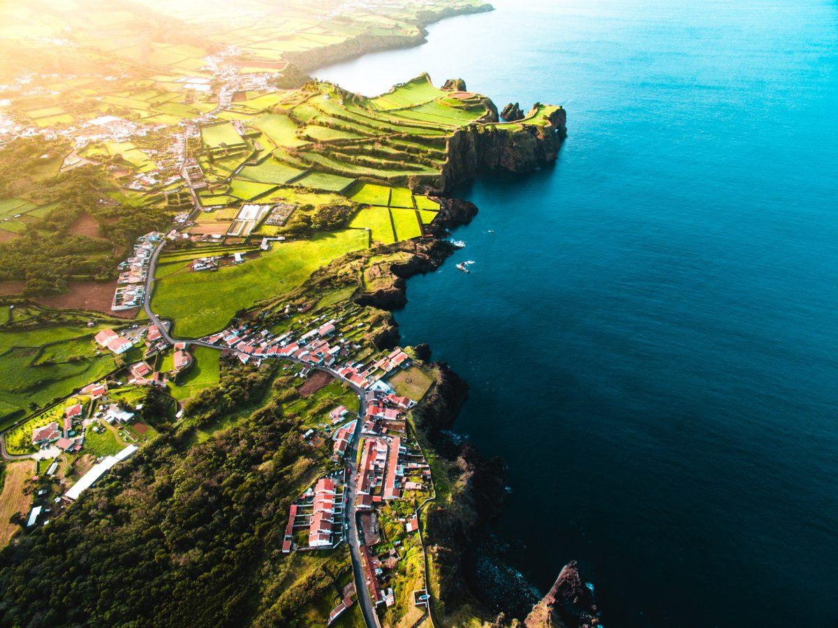 Azores, Drone, Beach, Ocean, Island