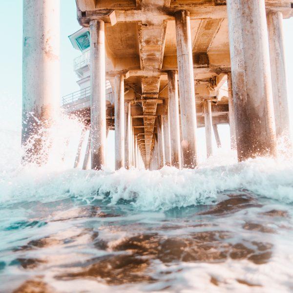 Pier, Water, Ocean, Beach
