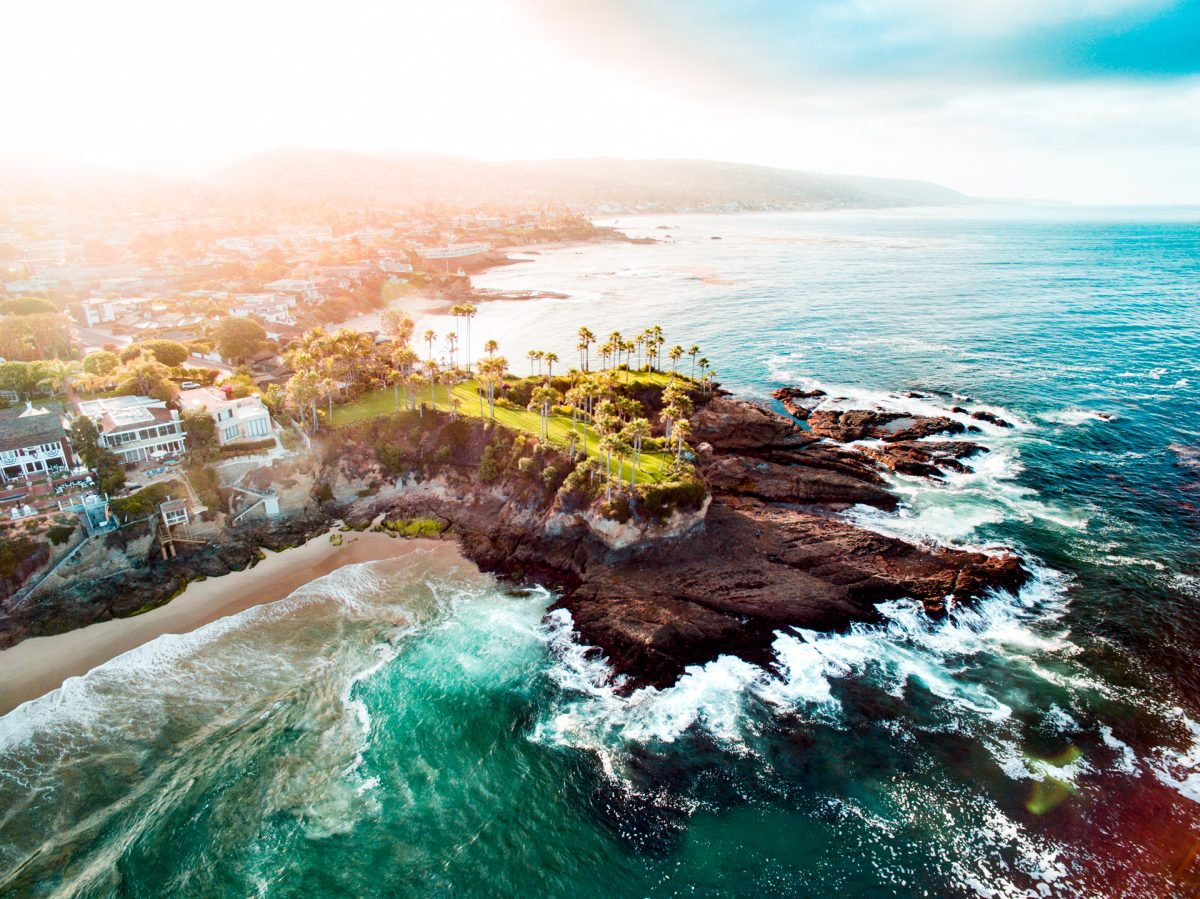 Laguna, Drone, Beach, Ocean, California