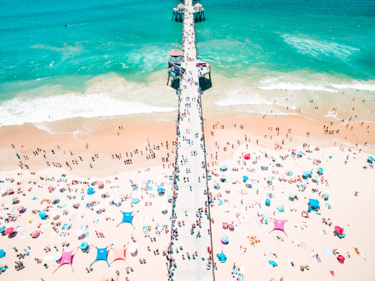 Surf, California, Drone, Pier